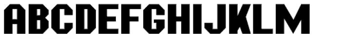 Mechanized JNL Font LOWERCASE