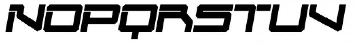 Mechwar Bold Oblique Font UPPERCASE