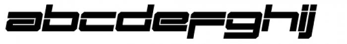 Mechwar Bold Oblique Font LOWERCASE