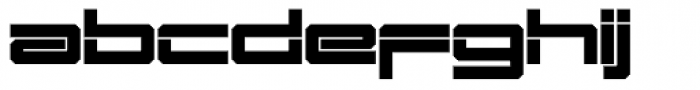 Mechwar Bold Font LOWERCASE