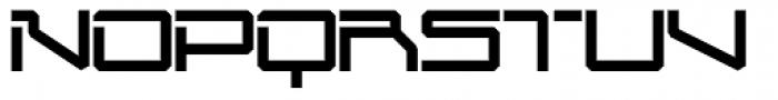 Mechwar Regular Font UPPERCASE