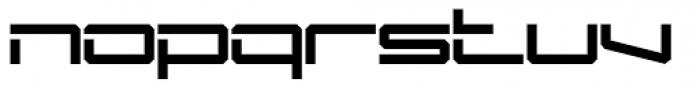 Mechwar Regular Font LOWERCASE