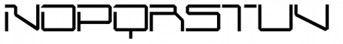 Mechwar Thin Font UPPERCASE