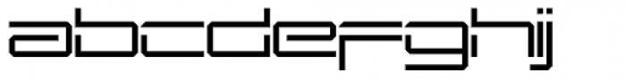 Mechwar Thin Font LOWERCASE
