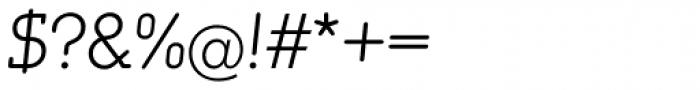Media Serif EF ExtraLight Italic Font OTHER CHARS