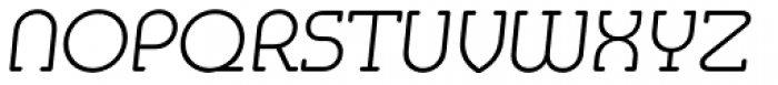 Media Serif EF ExtraLight Italic Font UPPERCASE