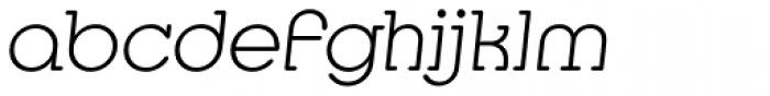 Media Serif EF ExtraLight Italic Font LOWERCASE