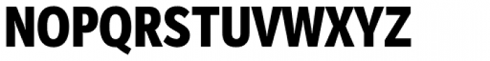 Mediator Condensed Extra Bold Font UPPERCASE