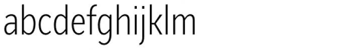 Mediator Condensed Extra Light Font LOWERCASE