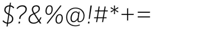 Mediator Extra Light Italic Font OTHER CHARS