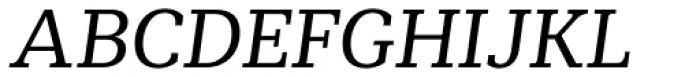Mediator Serif Italic Font UPPERCASE