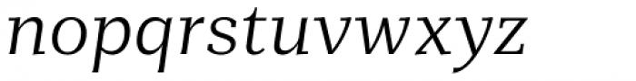 Mediator Serif Light Italic Font LOWERCASE