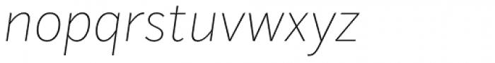 Mediator Ultra Light Italic Font LOWERCASE