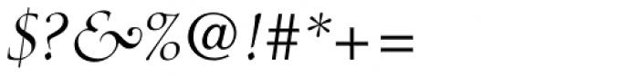 Medici Script Font OTHER CHARS