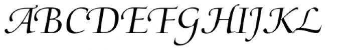 Medici Script Font UPPERCASE