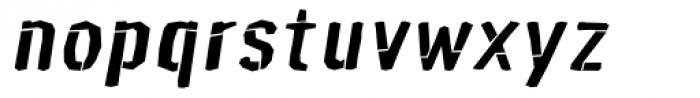 Mediocre Bold Oblique Font LOWERCASE