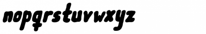 Meep Black Italic Font LOWERCASE