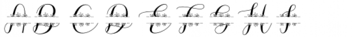 Megan Nice Monogram Font UPPERCASE