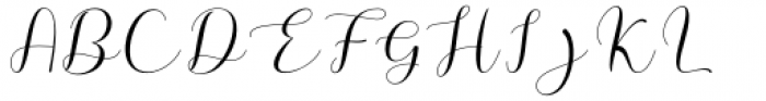 Megan Nice Regular Font UPPERCASE