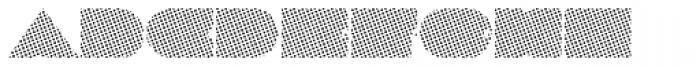 Megatropolis Benday Font UPPERCASE