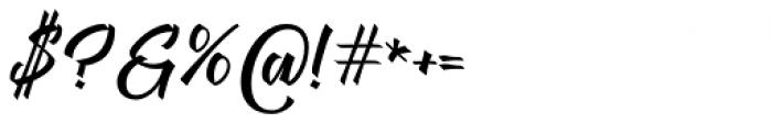 Megawatt Regular Font OTHER CHARS