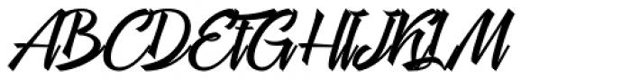 Megawatt Regular Font UPPERCASE