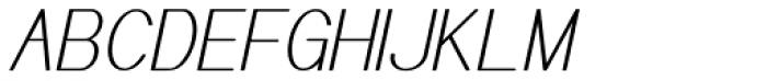 Meichic Cond Oblique Font UPPERCASE