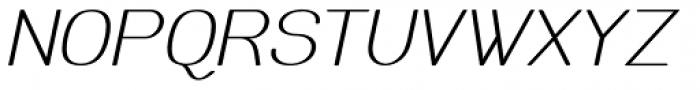 Meichic Oblique Font UPPERCASE