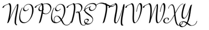 Meikayla script Regular Font UPPERCASE