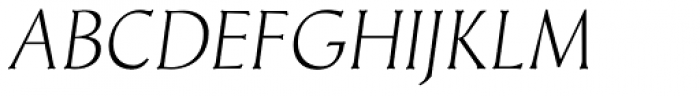 Meister Antiqua Book Italic Font UPPERCASE