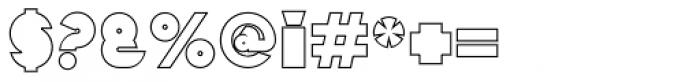 Mekon Outline Alt Font OTHER CHARS