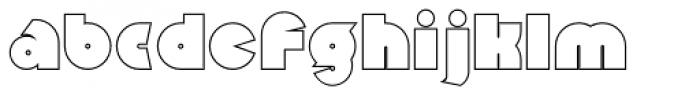 Mekon Outline Alt Font LOWERCASE