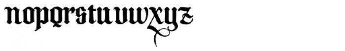 Melcheburn Font LOWERCASE