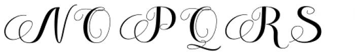Melisenda Script Regular Font UPPERCASE