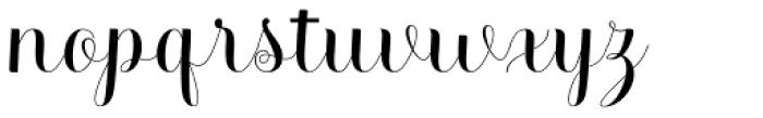 Melisenda Script Regular Font LOWERCASE