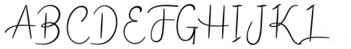 Mellinde Regular Font UPPERCASE