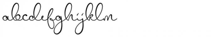 Mellinde Regular Font LOWERCASE