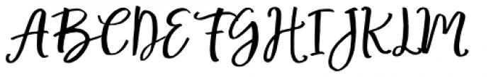 Mellona Lovely Script Font UPPERCASE
