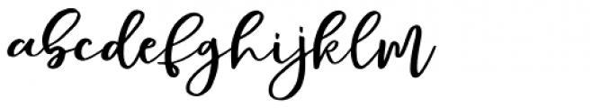Mellona Lovely Script Font LOWERCASE
