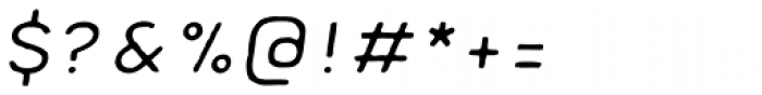 Meltow Sans 100 Handmade Italic Font OTHER CHARS
