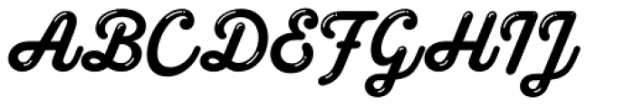 Melts Script Glint Font UPPERCASE