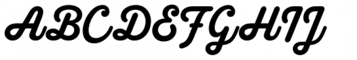 Melts Script Roman Font UPPERCASE