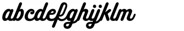 Melts Script Roman Font LOWERCASE