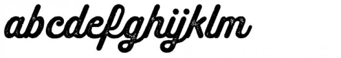 Melts Script Rough Sanscript Two Font LOWERCASE