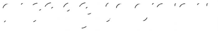 Melts Script Rough Shines Font UPPERCASE