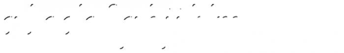 Melts Script Rough Shines Font LOWERCASE