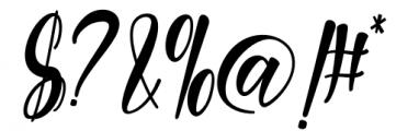 Melyana Regular Font OTHER CHARS