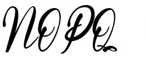 Melyana Regular Font UPPERCASE