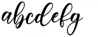 Melyana Regular Font LOWERCASE