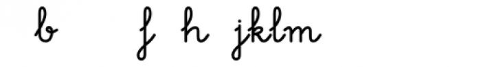 Memimas Bold Ligatures Font LOWERCASE